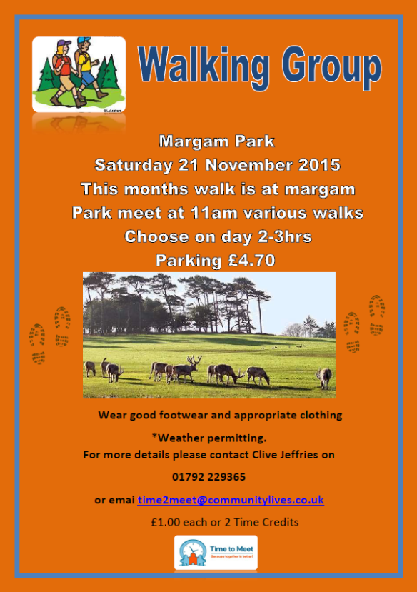 T2M Walking Group Nov - MARGAM PARK